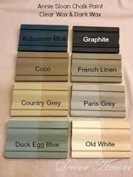 furniture paint colorsDecor Amore My Annie Sloan Chalk Paint Color Boards  Paint
