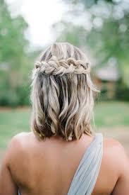 Image Coiffure De Mariage Cheveux Mi Long Tresse Coiffure