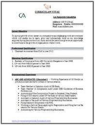 Professional Curriculum Vitae Resume Template Sample Template Of A