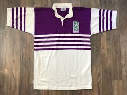 world sevens series halbro rugby shirt trikot purple white l in mainz