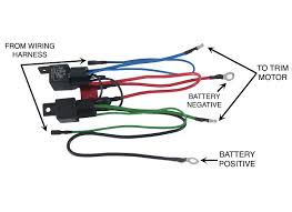 new wiring harness convert 3 wire tilt trim motor to 2 wire 30 amp new wiring harness convert 3 wire tilt trim motor to 2 wire 30 amp fuse 2 relays