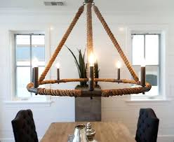nautical rope chandelier candle