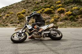 the 2017 husqvarna 701 supermoto is perfect for the track the