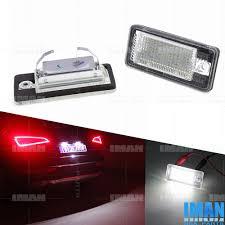 Audi A3 Led License Plate Lights 2 X Canbus Dot Led Lamps License Plate Lights For Audi A3 A4