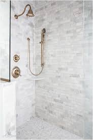 shower floor mosaic tiles shower tile bination marble subway tile on wallarble