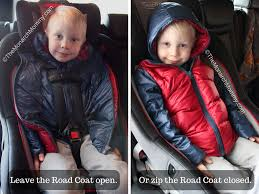 safe warm with the one kid road coat