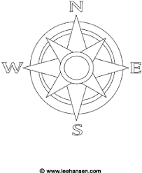 Small Picture Nautical Compass Rose Coloring Page
