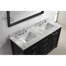 virtu usa mdwmsq caroline  double square sinks bathroom