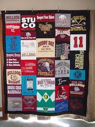 63 best Tee shirt quilt images on Pinterest | Quilting projects ... & Tshirt Quilts are great gifts for high school graduation! Going to have one  made for Austin with a variety of his t shirts I'm currently saving for his  ... Adamdwight.com