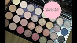 first impression makeup revolution ultra 32 shade eyeshadow palette flawless makeup with raji