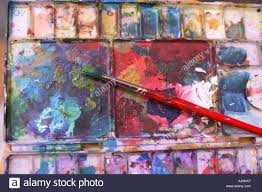 painting supplies stock image