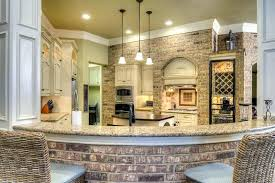 kitchen accent wall ideas chic design brick nice decoration tile amp color