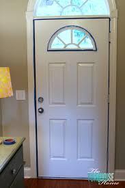 tape off painted front door