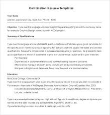 Resume Outline Examples Combination Resume Template 6 Free Samples