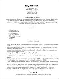 Social And Human Services Assistant Resume Template Best Design