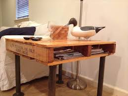 iron pipe furniture. Upcycled Pallet And Iron Pipe Side Table Furniture N