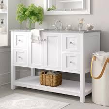 What is done in bathroom vanity with makeup area. Three Posts Binne 48 Single Bathroom Vanity Set Reviews Wayfair