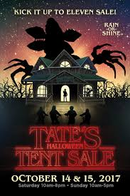 halloween sale flyer tates comics inc halloween tent sale