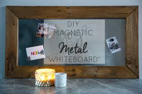 How To Make A Magnetic Memo Board Beauteous DIY Magnetic Memo Board And Christmas Card Holder Lemon Thistle