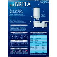 Brita On Tap White Water Faucet Filtration System Fits Standard