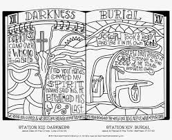 Stations Of The Cross Coloring Pages Easter Coloring Pages