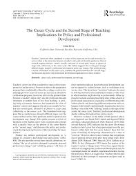 Pdf The Career Cycle And The Second Stage Of Teaching