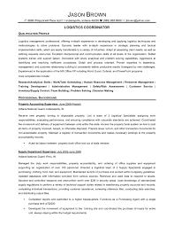 Resume Logistics Coordinator Resume