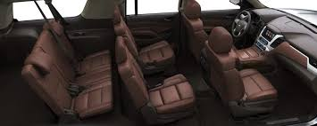 the interior of the 2017 chevy suburban