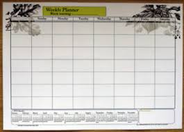 Details About A3 Size Laminate Weekly Planner Dry Wipe Wall Chart With 2019 2020 Calendar