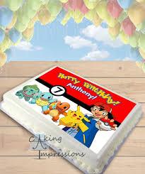 superhero sheet cake pokemon indigo league edible image sheet cake topper