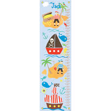 Growth Chart Design Pirate Boys Personalized Growth Chart