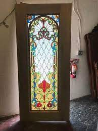 beautiful custom stained glass entry