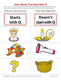 sort words that start with q