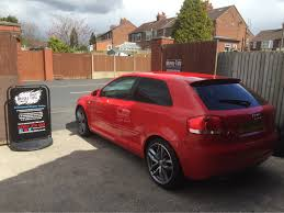 2007 Audi A3 S-line in this morning for 5% Carbon limo tints ...