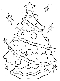 Christmas Tree Coloring Pages Coloring Book 31 Free Printable