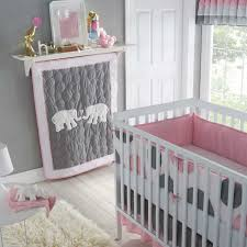 luxurious baby crib bedding infant girl s nursery 5 piece set polka baby elephant crib bedding
