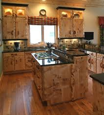 Craftsman Style Furniture, Burl Wood Kitchen Cabinets, Rustic Kitchen  Cabinet, Island.