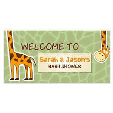 Baby Shower Banner Giraffe Boy Baby Shower Banner Personalized Party Backdrop Ebay