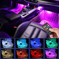 <b>LED Car Foot</b> Light Ambient Lamp With USB Wireless Remote ...