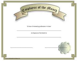 Printable Employee Of The Month Certificates This Silver Grey Certificate Recognizes An Employee Of The