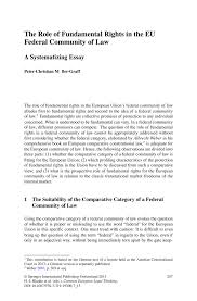 european union essay the idea of europe los angeles review of  the role of fundamental rights in the eu federal community of law inside