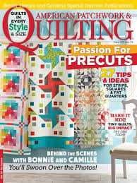 American Patchwork & Quilting August 2015 | AllPeopleQuilt.com & August 2015 Adamdwight.com