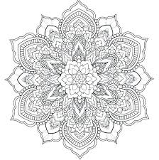 Mandala Design Coloring Pages Intricate Mandala Coloring Pages