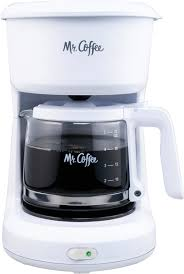 Coffee coffee maker, featuring a simple working mechanism to give you freshly brewed coffee. Buy Mr Coffee 4 Cup Coffee Maker 4 Cup White