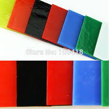 2018 whole 1bag 7color art glass bullseye glass for making glass jewely in microwave kiln