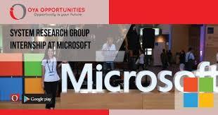 Microsoft Internship Apply System Research Group Internship At Microsoft Oya