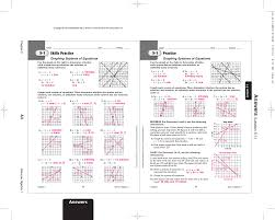 kids solving systems of equations by graphing worksheet math