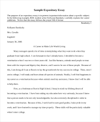 short essay samples short expository example