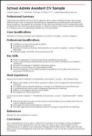 Resume Template For Administrative Assistant Simple School Admin Assistant CV Sample MyperfectCV