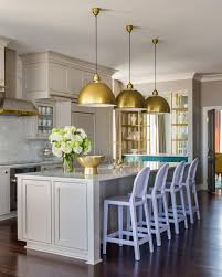 kitchen color decorating ideas. Neutral Transitional Kitchen With Lavender Barstools Color Decorating Ideas D